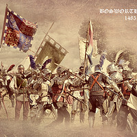Buy canvas prints of Bosworth Battlefield Re-enactment by Linsey Williams