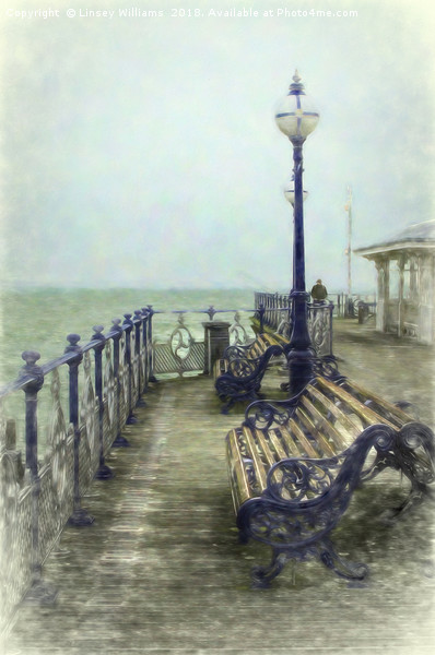 Swanage Pier Canvas print by Linsey Williams