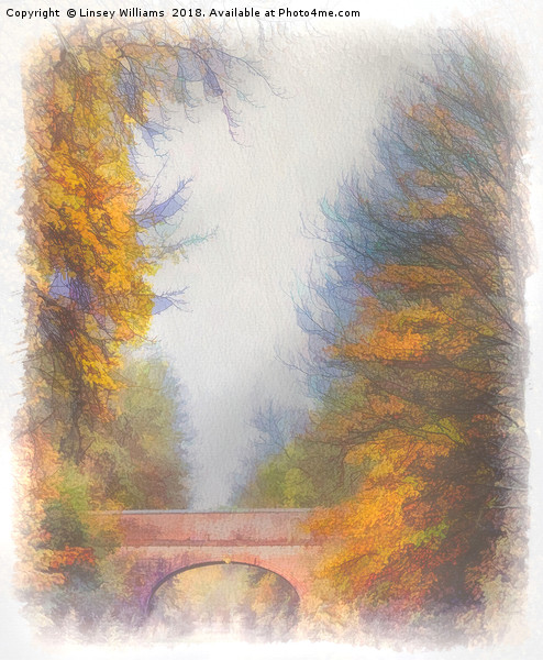 Autumn Over the Canal Canvas print by Linsey Williams