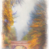 Buy canvas prints of Autumn Over the Canal by Linsey Williams