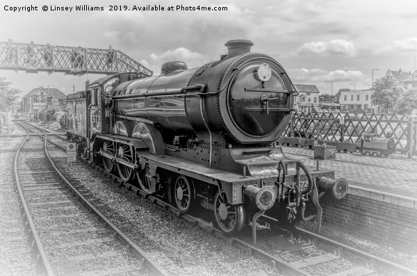 LNER B12 – 8572 Steam Train Canvas print by Linsey Williams