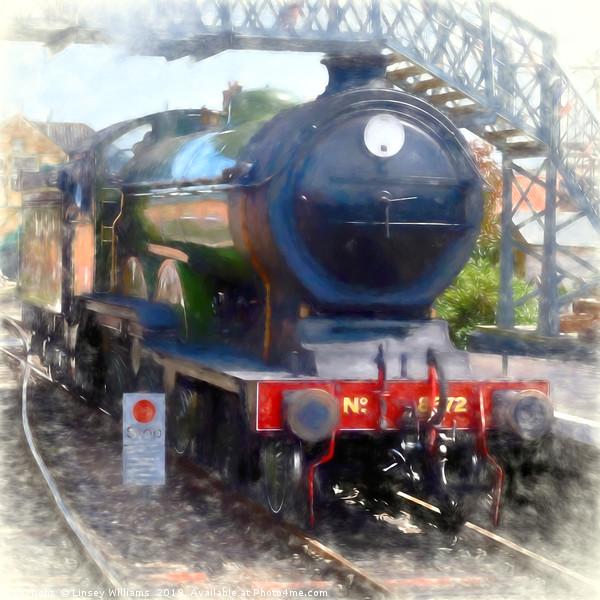 LNER B12 – 8572 Steam Train Canvas print by Linsey Williams