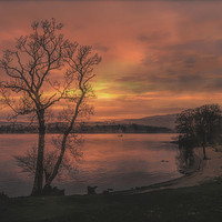 Buy canvas prints of A Windermere Sunset by Linsey Williams