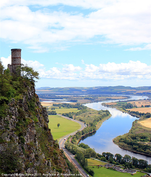 Kinnoull Tower Overlooking River Tay Canvas print by Alex Byrne