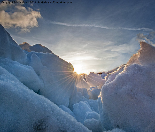 Ice Field and Sunburst Canvas print by Iain Mavin
