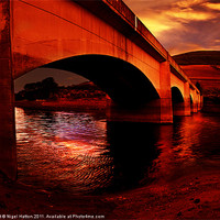 Buy canvas prints of Yorkshire Bridge Sun Rise by Nigel  Hatton