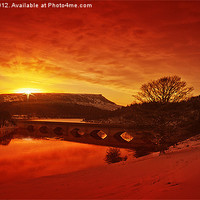 Buy canvas prints of Snow At Ladybower by Nigel  Hatton
