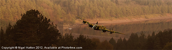 Lancaster Over The Dams Canvas print by Nigel  Hatton