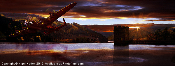 Lancaster Over Howden Dam Canvas print by Nigel  Hatton