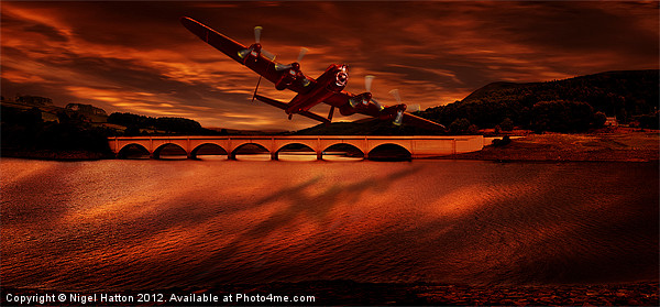The Lancaster Canvas print by Nigel  Hatton