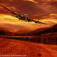 Buy canvas prints of Lancaster Over Ouzelden by Nigel  Hatton