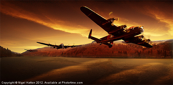 Lancasters in the Silent Valley Canvas print by Nigel  Hatton