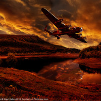 Buy canvas prints of Lancaster's Return by Nigel  Hatton