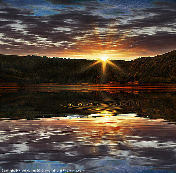 End of the Day Canvas print by Nigel  Hatton