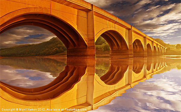 The Golden Viaduct Canvas print by Nigel  Hatton