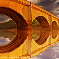Buy canvas prints of The Golden Viaduct by Nigel  Hatton