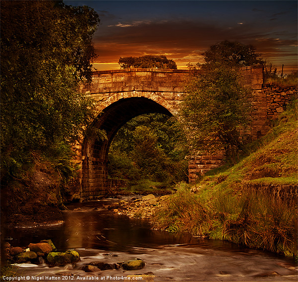 Alport Bridge Canvas print by Nigel  Hatton