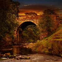 Buy canvas prints of Alport Bridge by Nigel  Hatton