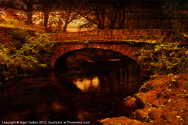 Evening at Rivelin Canvas print by Nigel  Hatton