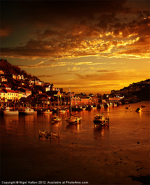 Looe at Sunset Canvas print by Nigel  Hatton