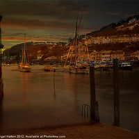 Buy canvas prints of Christmas At Looe by Nigel  Hatton