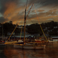 Buy canvas prints of Christmas At Looe #2 by Nigel  Hatton