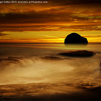 Buy canvas prints of Trebarwith Strand at Sunset by Nigel  Hatton