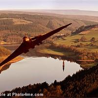 Buy canvas prints of Vulcan at Ladybower by Nigel  Hatton