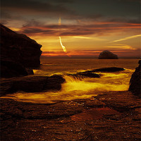 Buy canvas prints of Looking out to Gull Rock by Nigel  Hatton