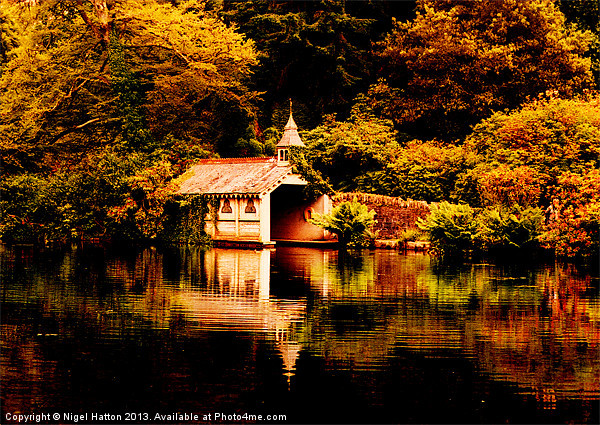 Trevrano Boat House Canvas print by Nigel  Hatton