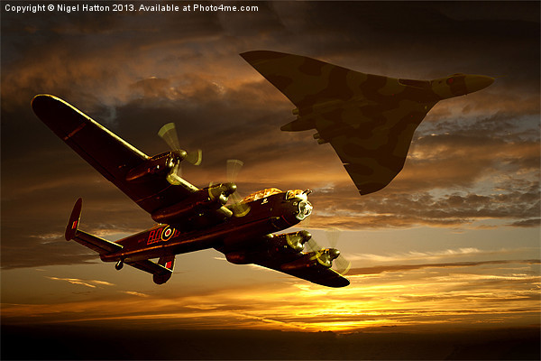 Legends of the Sky Canvas print by Nigel  Hatton