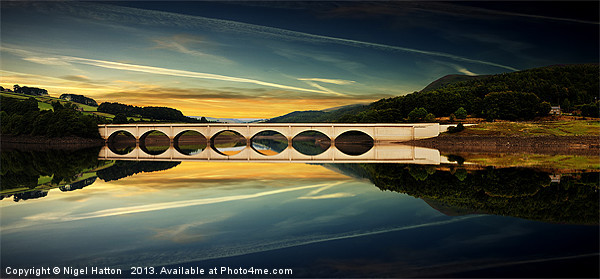 Ashopton Reflections Canvas print by Nigel  Hatton