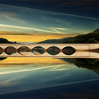 Buy canvas prints of Ashopton Reflections by Nigel  Hatton