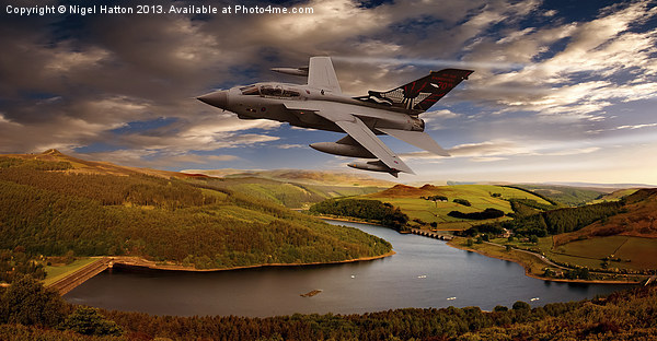 Tornado in the Valley Canvas print by Nigel  Hatton