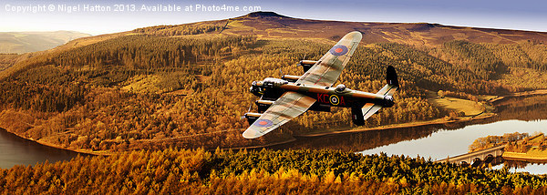 Lancaster Over Ladybower Canvas print by Nigel  Hatton