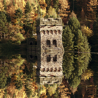 Buy canvas prints of East Tower Reflections by Nigel  Hatton