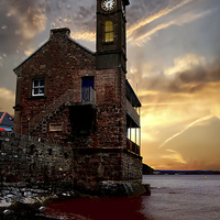 Buy canvas prints of The Clock Tower by Nigel  Hatton