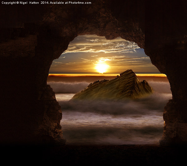 Cave Glow Framed Mounted Print by Nigel  Hatton