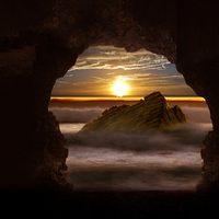 Buy canvas prints of Cave Glow by Nigel  Hatton