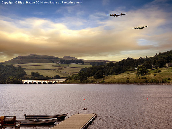 Two Over Ladybower Canvas print by Nigel Hatton