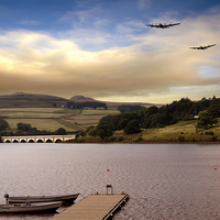Buy canvas prints of  Two Over Ladybower by Nigel Hatton