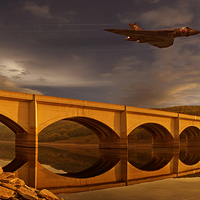 Buy canvas prints of  Vulcan Over Ashopton by Nigel Hatton