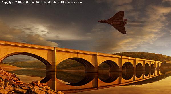 Vulcan Over Ladybower  Canvas print by Nigel Hatton