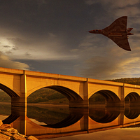 Buy canvas prints of Vulcan Over Ladybower  by Nigel Hatton