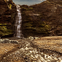 Buy canvas prints of Tintagel Waterfall # 2 by Nigel Hatton