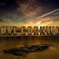 Buy canvas prints of I Love Cornwall by Nigel Hatton