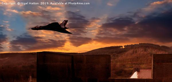 Vulcan Over Derrwent Dam Canvas print by Nigel Hatton