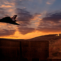 Buy canvas prints of Vulcan Over Derrwent Dam by Nigel Hatton