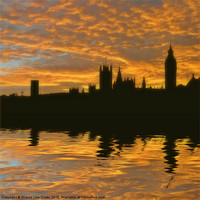 Buy canvas prints of London's burning by Sharon Lisa Clarke