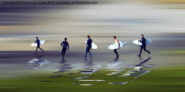 Lets go surf Canvas Print by Sharon Lisa Clarke
